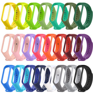Newly launched silicone watch strap mi band 5 strap colorful replacement band for xiaomi mi band 5 bracelets
