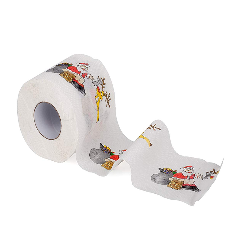 VOBAGA flushable santa usa toiletpapier roll