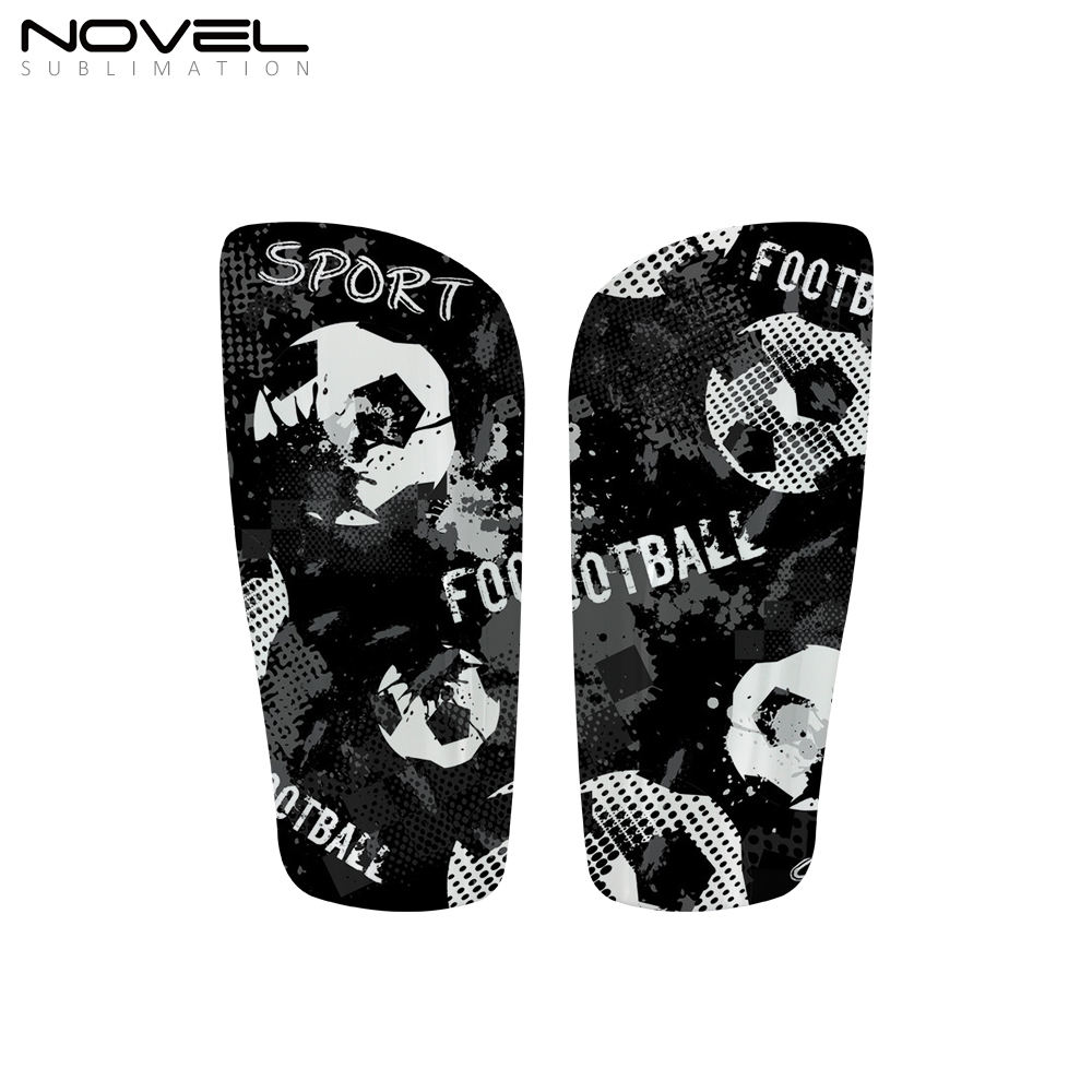 Personality Shin Guards with EVA Cushion Protection Sublimatoin Soccer Football Shin Pads Protector