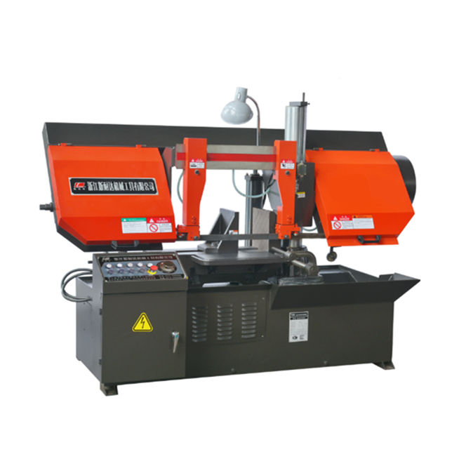 Industrial band saw machinery semi-auto horizontal