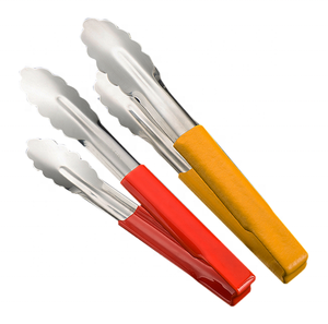 Good Quality Factory Directly Kitchen Utensils Cuisine Accessories Colorful Stainless Steel Silicone Handle Food Tongs