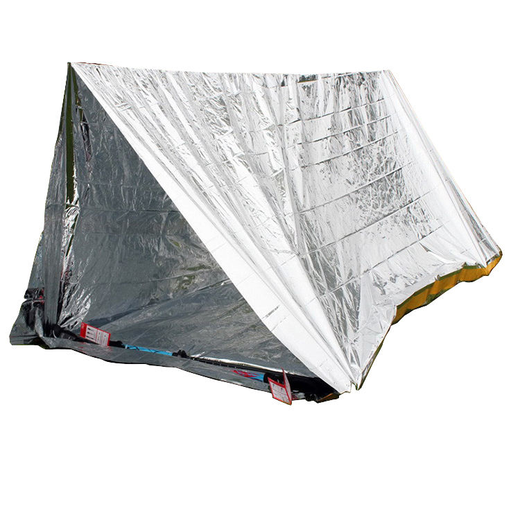 Camping Tent 2 Persoon Mylar Rescue Aluminium Ramp Bivi Survival Outdoor Emergency Tent Onderdak