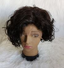 wholesale 13*4 pixie curly human hair wigs lace frontal bob short wigs for black women brazilian  human hair wigs lace