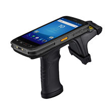 Jiangsu 13.56mhz Handheld Phone NFC Terminal Mobile UHF 2D Barcode Scanner Wireless Android PDA Rfid Reader