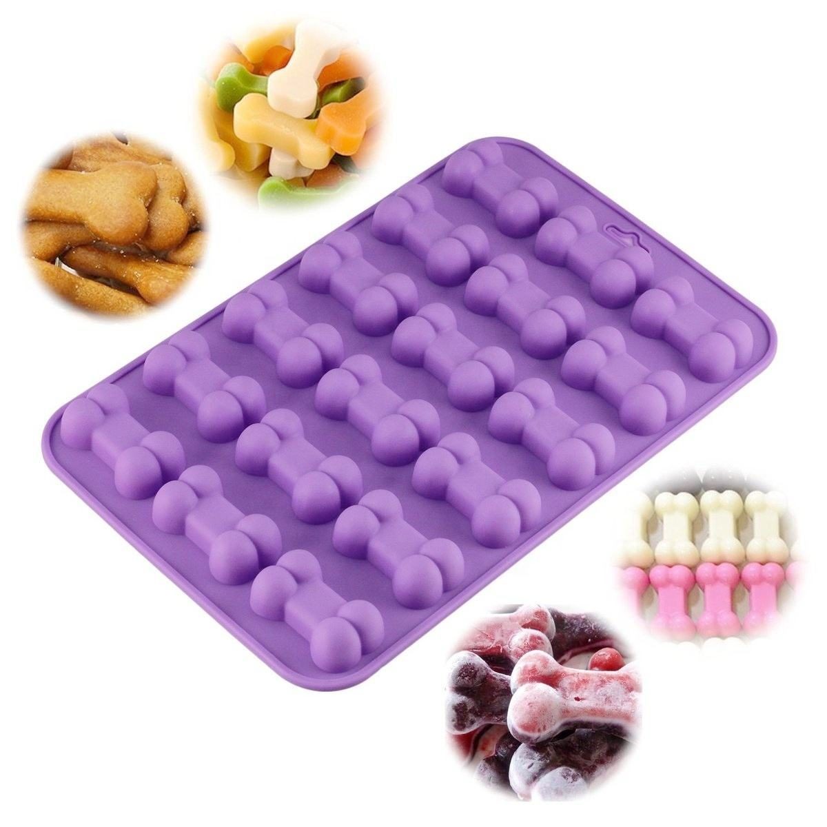 18 Units 3D Sugar Fondant Cake Dog Bone Form Cutter Cookie Chocolate Silicone Molds Decorating Tools Kitchen Pastry Baking Molds