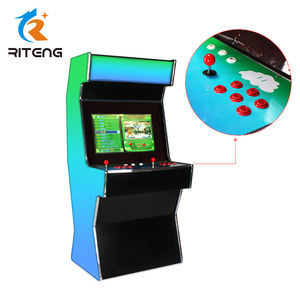 Chinese hot sale popular wood cabinet 2 players upright arcade machine retrocade