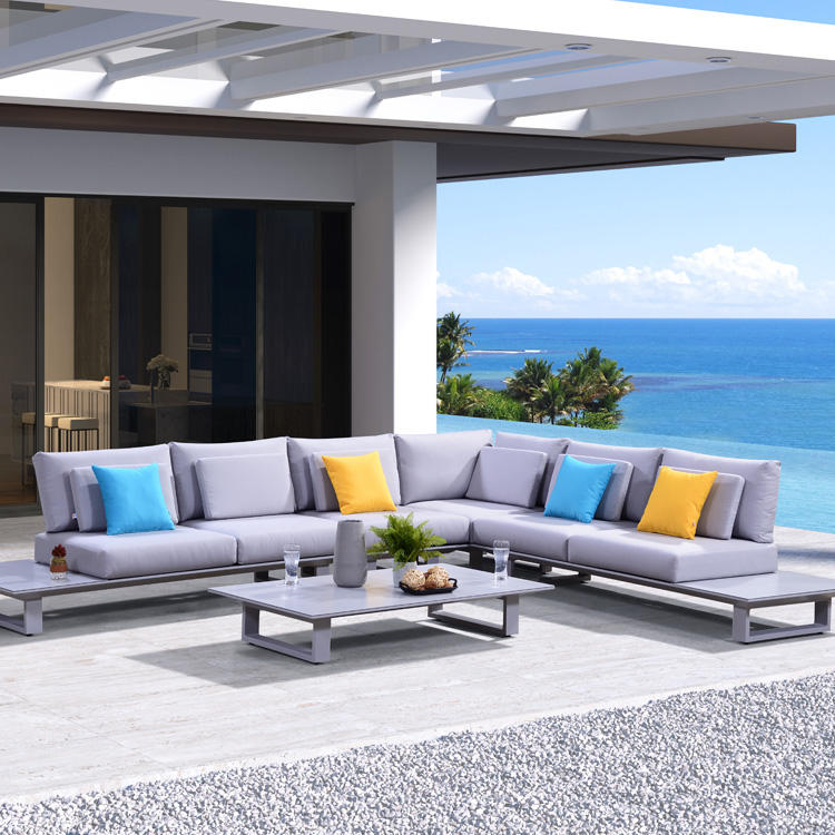 One-Stop Service [ Outdoor Couch ] Outdoor Couch Foshan Supplier Lounge Sets Aluminium Patio Sofa Design Outdoor Couch