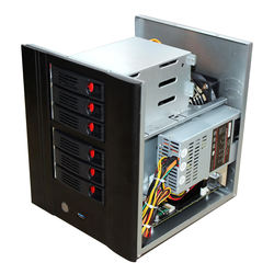 High quality NAS 6 bays NAS server case nas storage cloud support Mini-itx motherboard