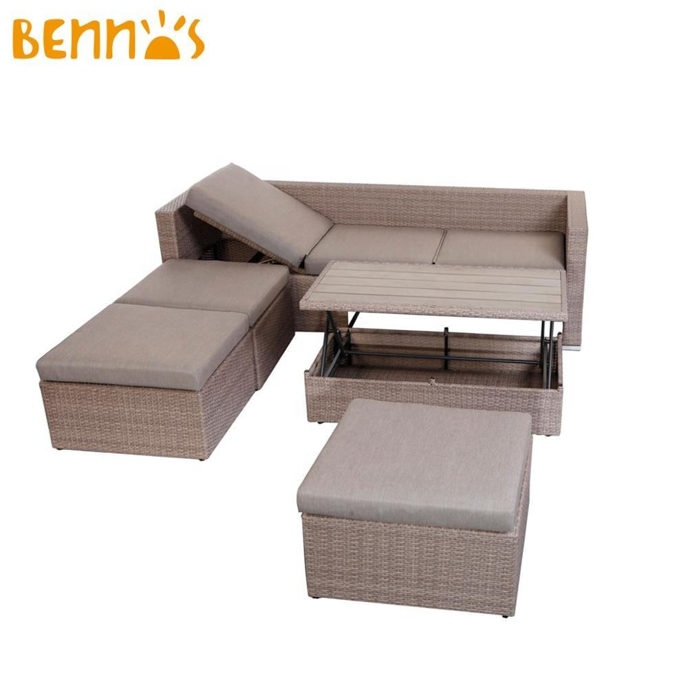 3 SEATS BENCH WITH TABLE SOFA SET OUTDOOR LOUNGE