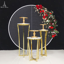 3pcs a set Hot sale table Free shipment gold cake plinth/cake table /party dessert table Cake stand pillar display decoration