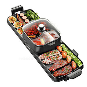 Wholesale metal electric bbq grill with hot pot