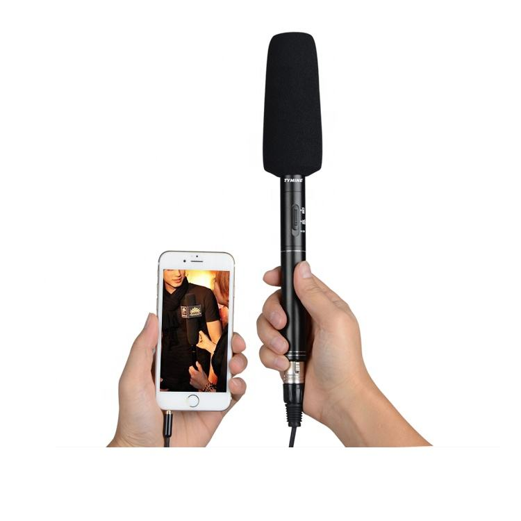 Tymine interview microphone for camera/DSLR/camcorder and smartphone
