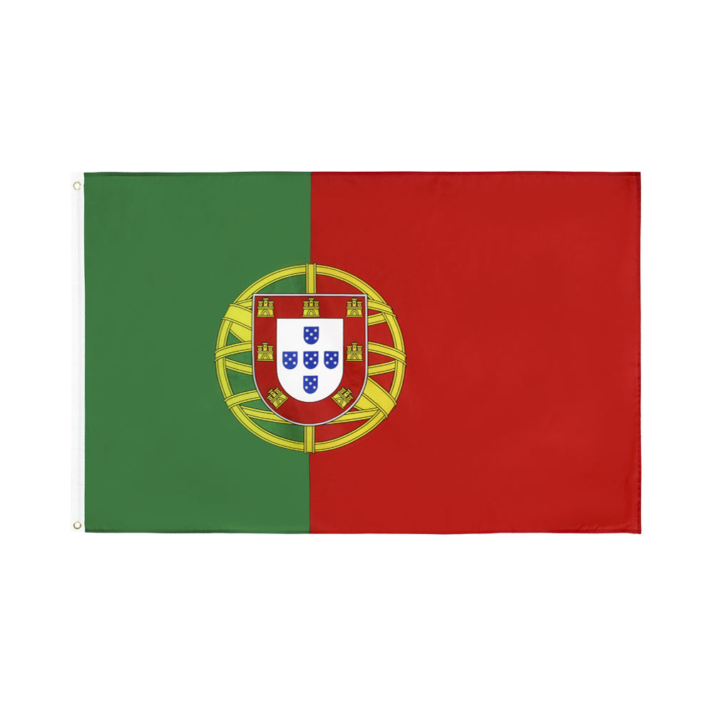 wholesale custom 3X5FT Polyester Banner National Flag Portugal national Flag