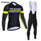 PHMAX Anti-uv Cycling Jersey Set Breathable Long Sleeve Bike Clothing Clothes Mountain Bicycle Wear