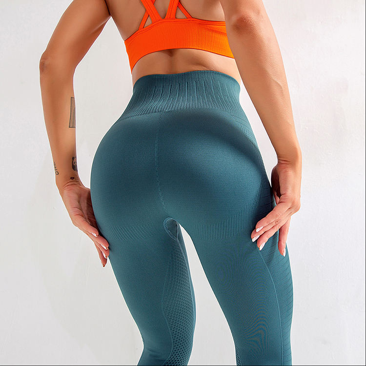 Quality Assured Enhancer Tight Elastic Seamless Waist Tummy Control Butt Lift Yoga Pants