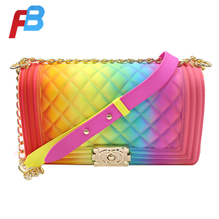 2019 Fashion branded crossbody bags silicone beach bag manufacturers for woman designer lady messenger leather bags