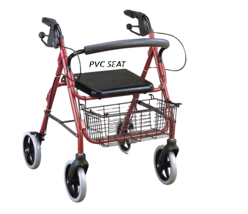 Factory price rehabilitation orthopedic rollator walker with seat