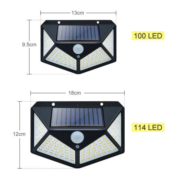100 LED Solar Powered luz 3 modos <span class=keywords><strong>de</strong></span> PIR Sensor <span class=keywords><strong>de</strong></span> movimiento <span class=keywords><strong>de</strong></span> la lámpara <span class=keywords><strong>de</strong></span> pared impermeable al aire libre <span class=keywords><strong>jardín</strong></span> patio <span class=keywords><strong>luces</strong></span> <span class=keywords><strong>de</strong></span> <span class=keywords><strong>seguridad</strong></span>