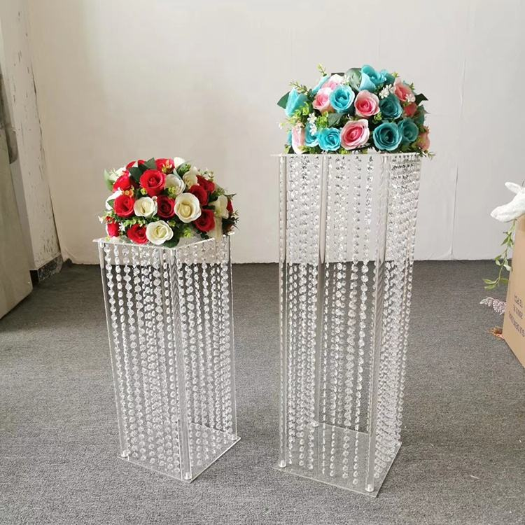 Event Party Supplies [ Wedding ] Wedding Weddings Decoration Lowe MOQ Crystal Acrylic Clear Beads Flower Stand Wedding Centerpiece Event Decoration