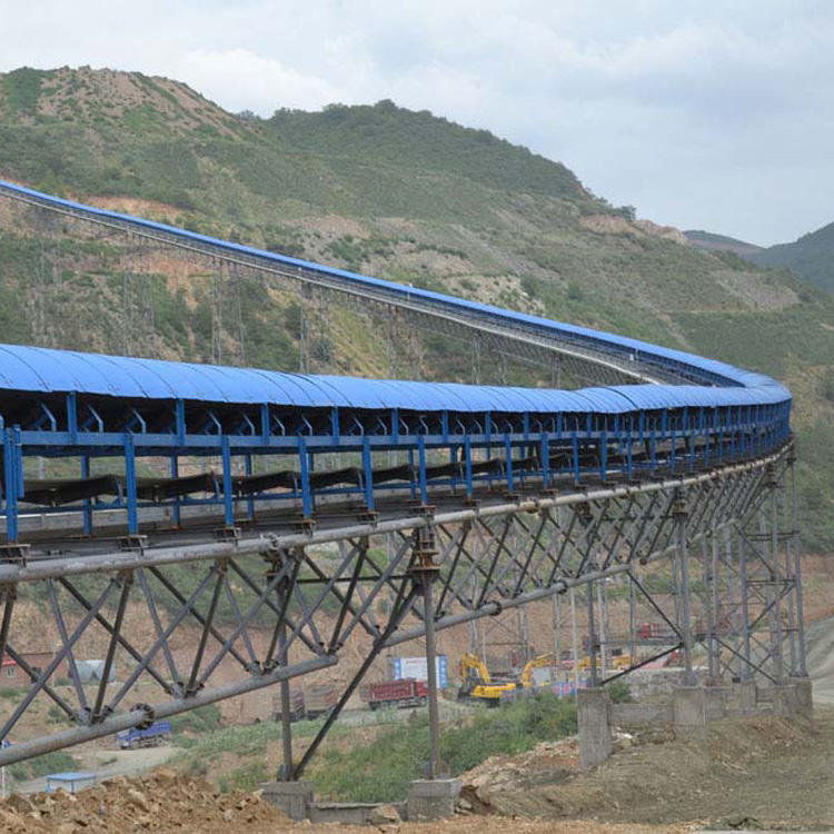 1400mm width 133mm idler roller Large-Capacity belt conveyor for Underground mining