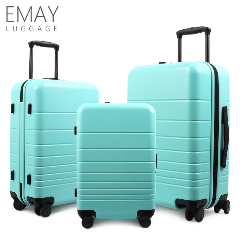 2021 New Design PC Power Bank Cabine Size Carry On Trolley Ladies Travel Luggage Set