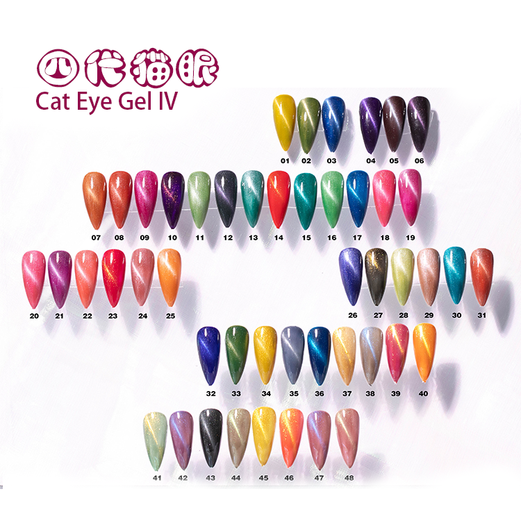 Nuevo de moda ojo de gato gel kiara cielo color gel uv con OEM venta al por mayor