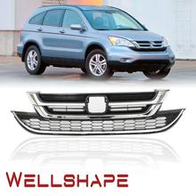 Car grille Fit for 10 11 Honda CRV CR-V Front Upper Lower Grille Grill Chrome Black Honeycomb