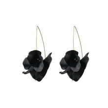 Yttria  Women Unique Flower   Earrings Black Acrylic  halloween earrings