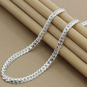 2019 Wholesale Cheap Fashion Jewelry Men Women 925 Sterling Silver Link Chain Necklace Cuban Link Necklace