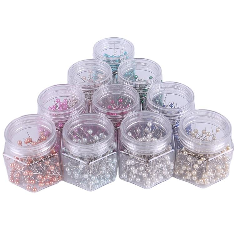 Quality colorful ball shaped pearl push pin plastic map pins for office and household