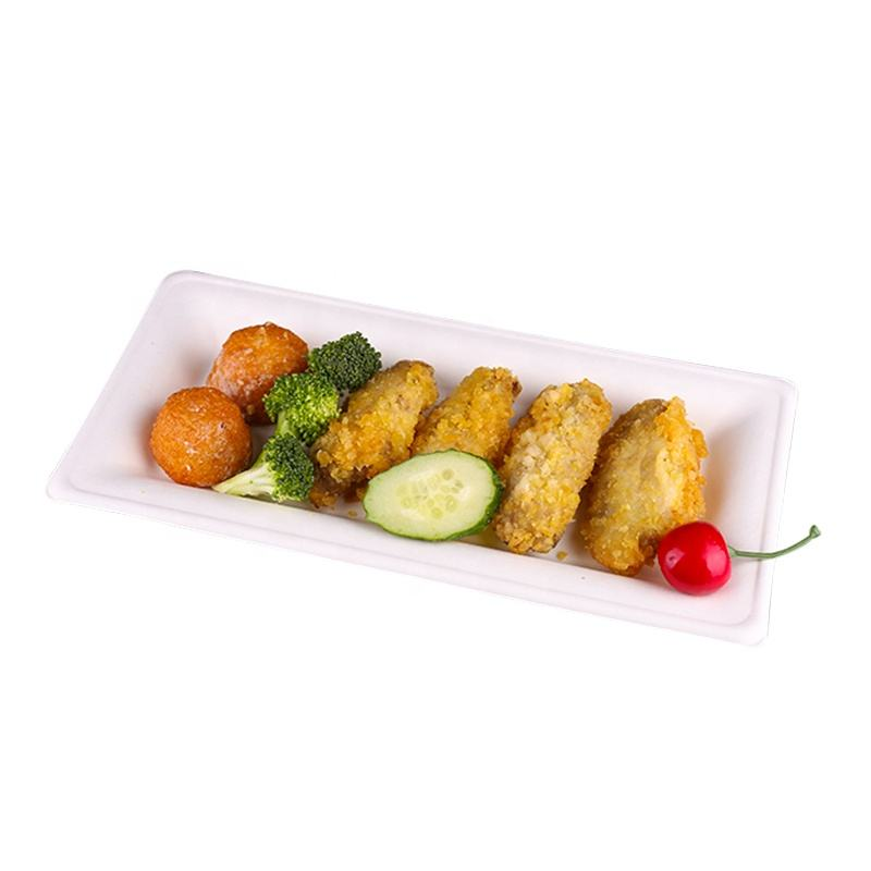 High Quality Take Out Lunch Box Bagasse Tray