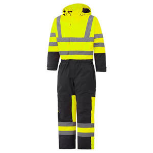 Factory Supply Yellow / Black Hi Vis Freezer High Visibility Waterproof Quilted Winter Insulated Coverall