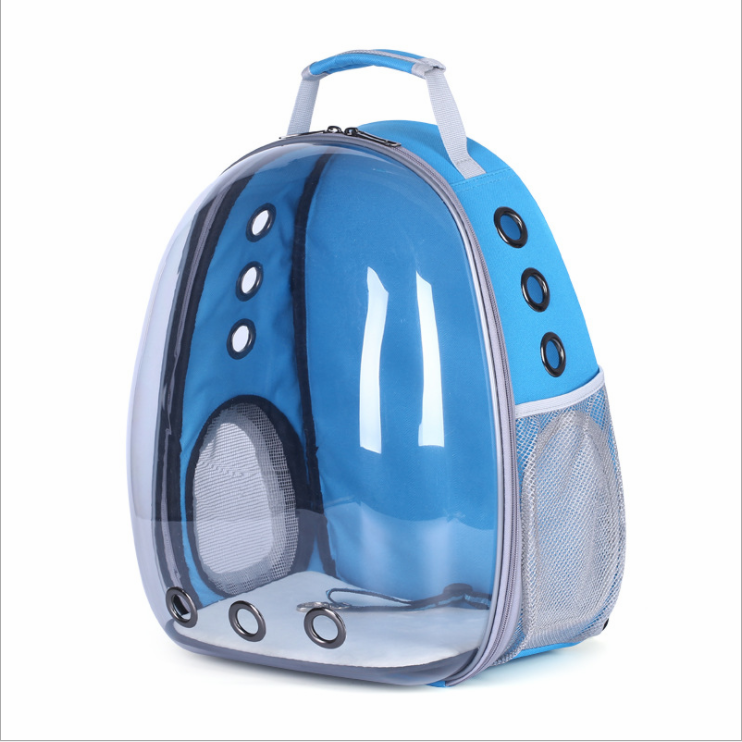 High Quality 600D Side Openings Transparent Pet Backpack Go Out Portable Shoulder Pet Supplies Cat Bag Dog Bag Pet Backpack