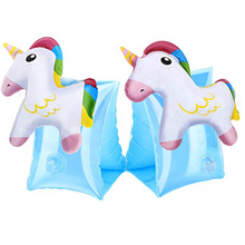Inflatable Arm Bands for Kids Floatation Sleeves Floats Tube Water Wings Cute Unicorn Swimming Trainers