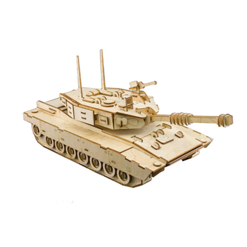 3D Wooden Toys Puzzle ToyLaser Cutting Assembly DIY Model Craft kits main battle tank Desk Educational Toys
