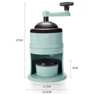 Summer need plastic manual snow ice crusher ice shaving machine for home use