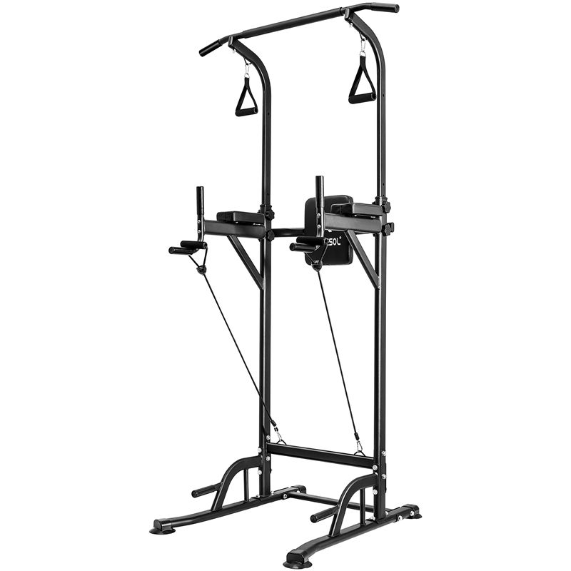 strip OneTwoFit Power Tower Dip Station Pull Up Bar pull body improvement fitness equipment for home power transmission tower