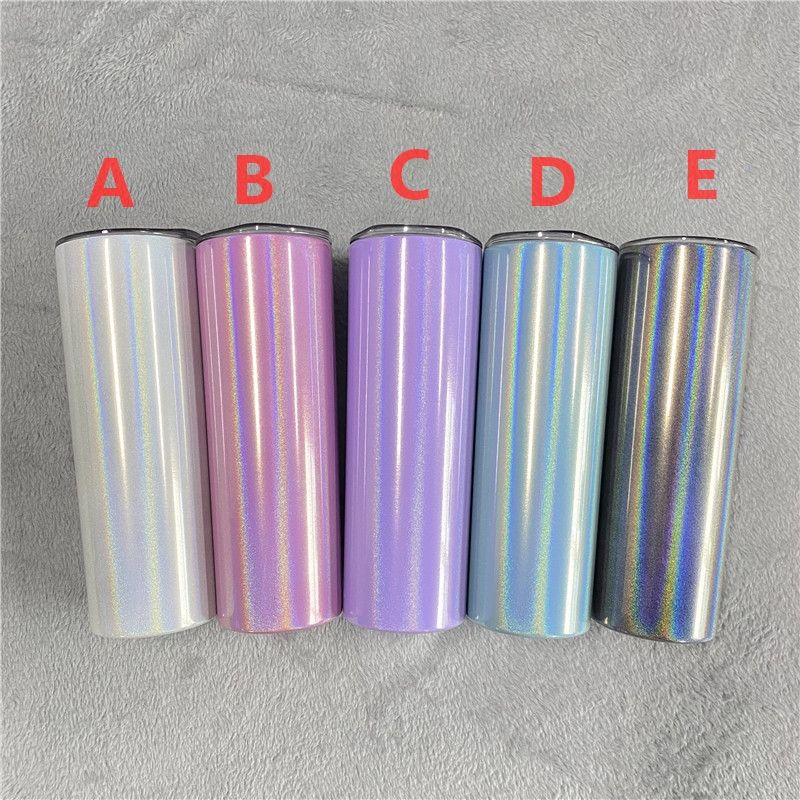 Fashion design eco friendly shimmer Glitter double walled stainless steel blank coated 20oz Straight tumbler for sublimation