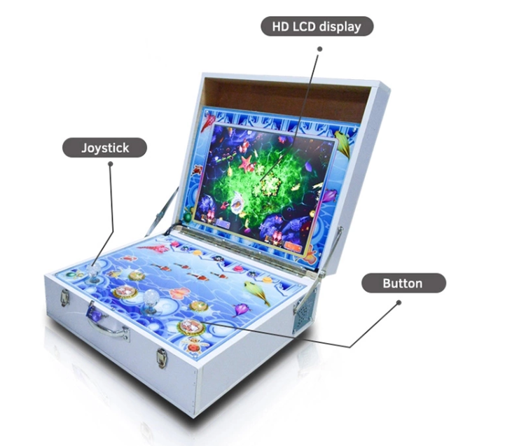 Portable Kids Mini Fishing Game Shooting 2 Player Fish Hunting Arcade Machine for Sale