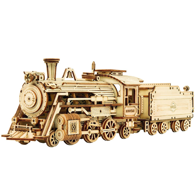 Robotime Train Model Building Kits 3D Wooden Puzzle Toy for Teen