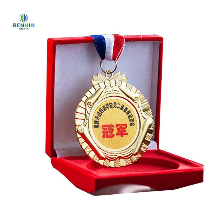 cheap alloy custom blank award sport metal souvenir medal with box