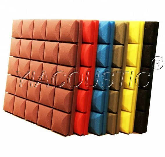 Various Colors High Density And Good Elasticity Mushroom Shape Acoustic Foam