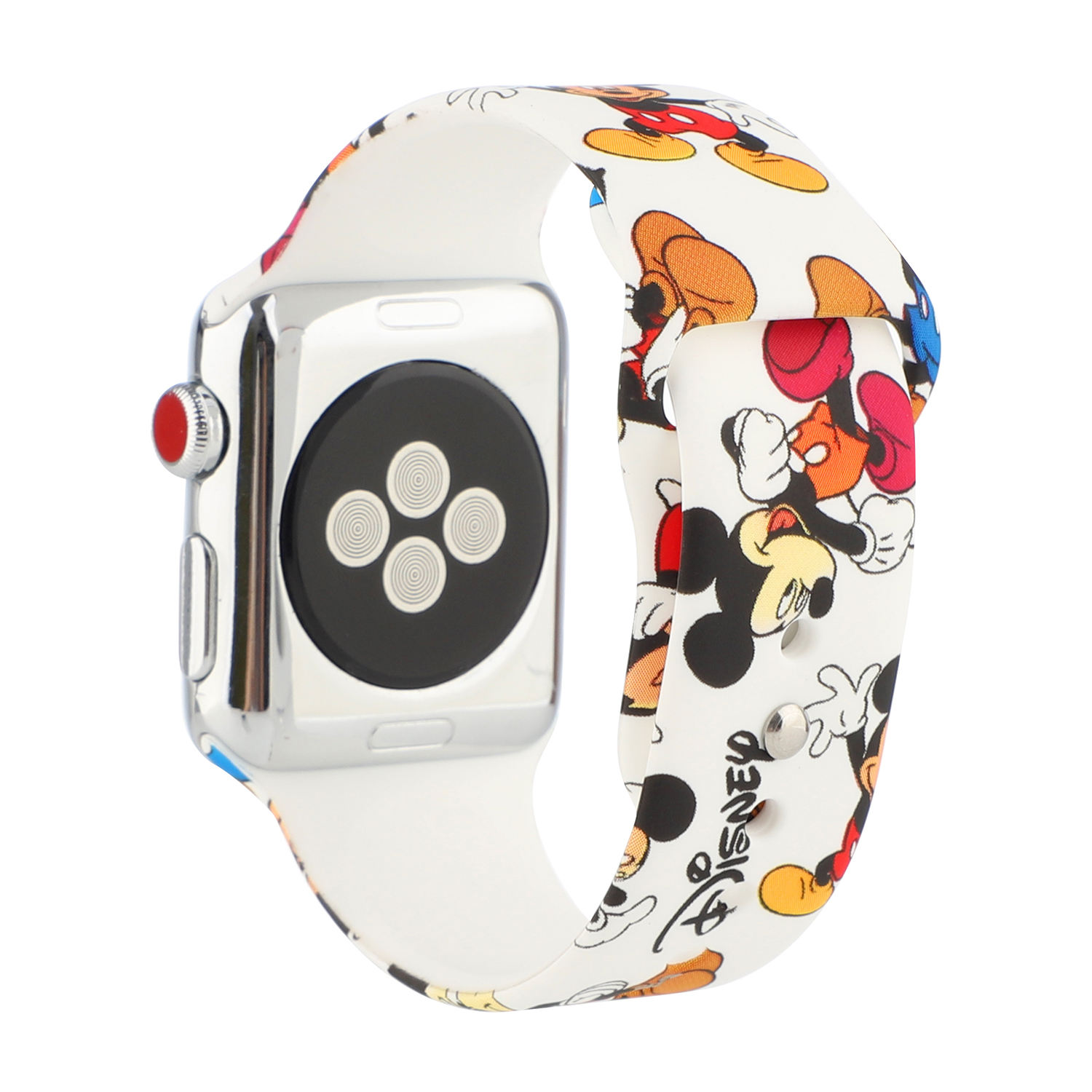 Mickey For Cartoon silicone Apple Watch Band 40mm 44mm Mouse Band Buckle Watch Strap