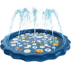 Low MOQ Sprinkler Pad Splash Play Mat Inflatable Water Splash Mat for Kids