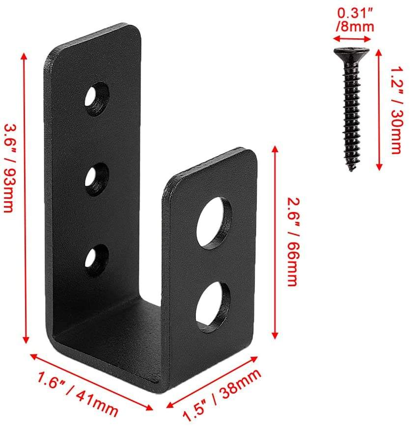 Door Barricade Brackets Heavy Duty Security u shaped metal brackets