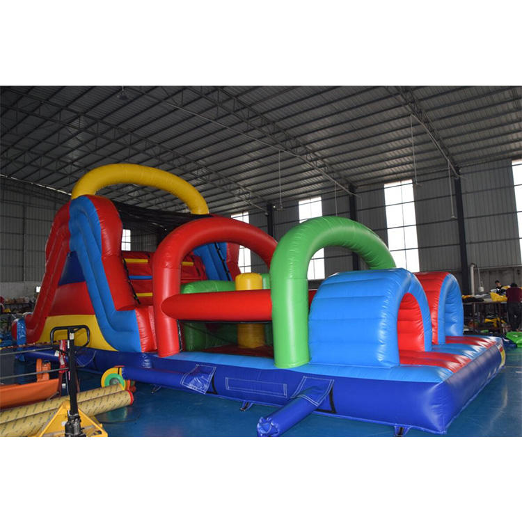 Customized Giant Adults Race Game Inflatable Obstacle Course Castle Slide For Kids Commercial Inflatable Bounce