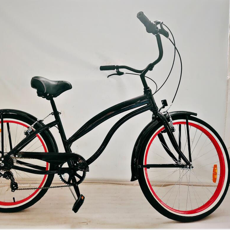 stock availiabe 26 inch aluminum frame 7 speed women beach cruiser