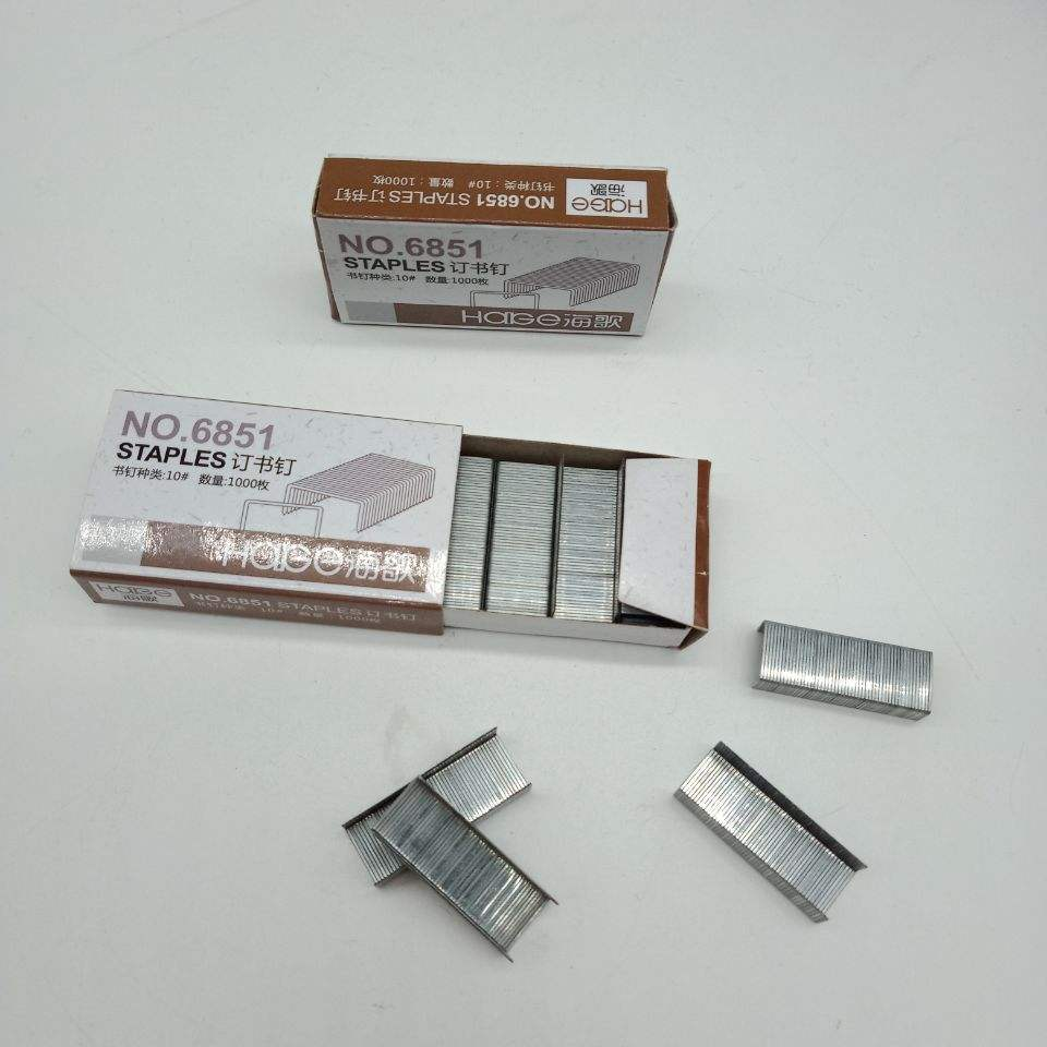 Professional china supplier office galvanized standard 10# fine quality stapler staple