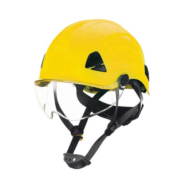 Hot selling electrical industrial safety helmet with visor eye shield ANSI Z89.1 engineering safety hard hat