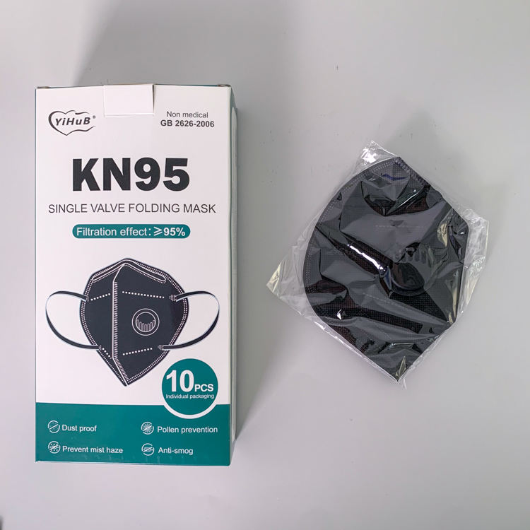 Disposable Colors Non-woven KN95 FFP2 Face Mask Disposable Earloop In Stock With Valve